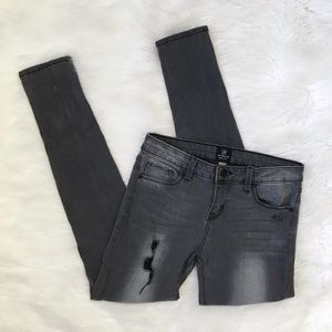 Just Black Grey Distressed Skinny Jeans